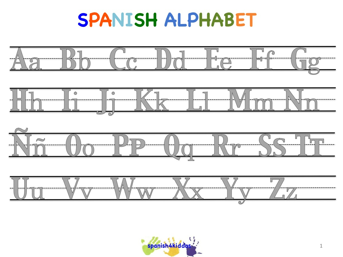 Spanish Alphabet Worksheets | Free Printables Worksheet - Free Printable Spanish Alphabet Worksheets