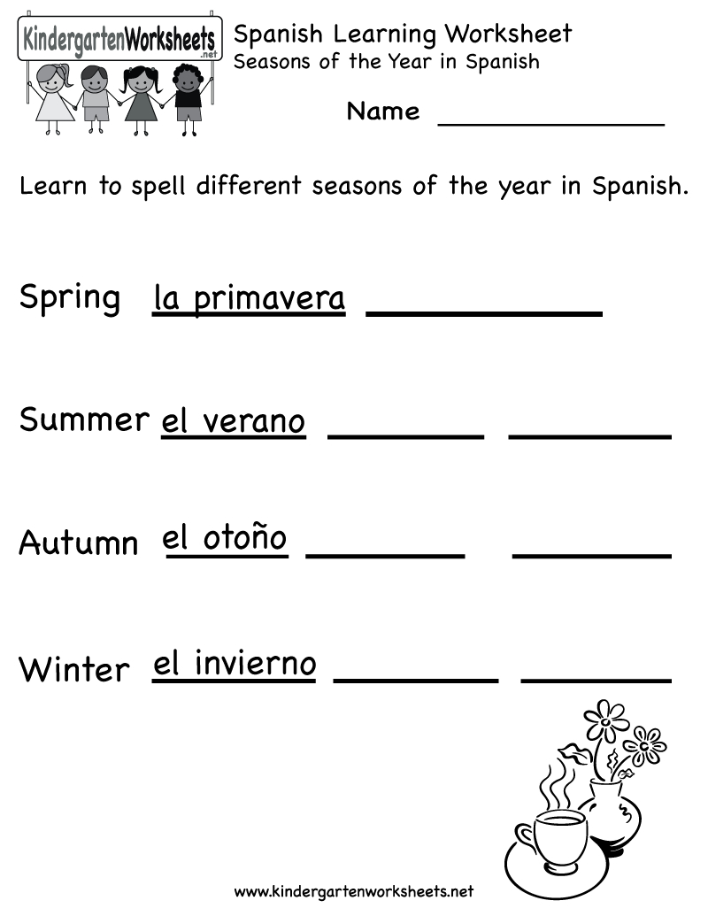 Spanish Worksheets For Kindergarten | Free Spanish Learning - Free Printable Spanish Alphabet Worksheets