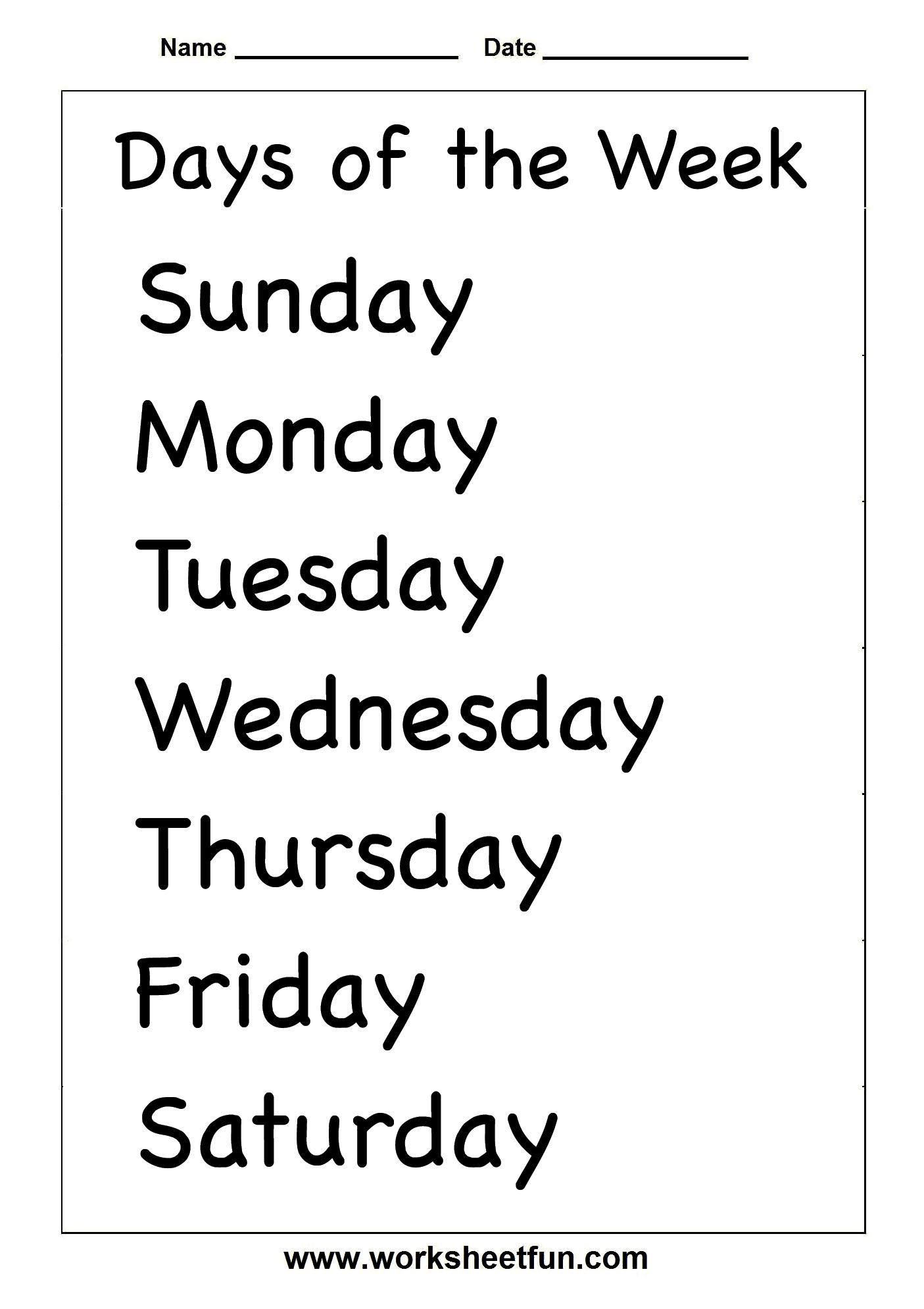Spelling – Days Of The Week / Free Printable Worksheets – Worksheetfun - Free Printable Spelling Practice Worksheets