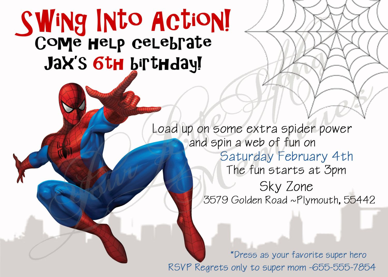 Spiderman Birthday Invitations Free Printable | Anniv Spiderman - Free Printable Spiderman Pictures