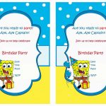 Spongebob Free Printable Birthday Party Invitations | Birthday Party   Spongebob Free Printable Invitations