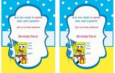 Spongebob Free Printable Birthday Party Invitations | Birthday Party - Spongebob Free Printable Invitations