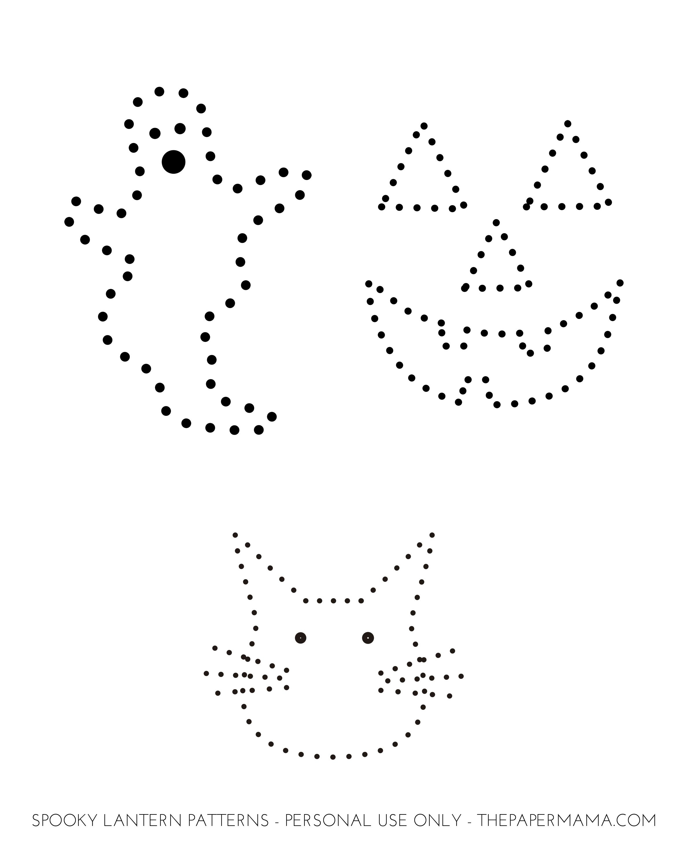 Spooky Tin Can Lantern - Hp Communities | String Art | Bolsas - Printable Tin Punch Patterns Free