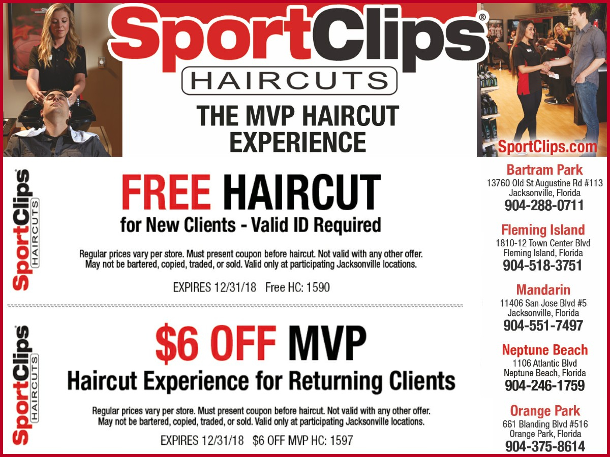 Sport Clips Coupons Free Haircut 113574 Free Haircut Or $6 Off Mvp - Sports Clips Free Haircut Printable Coupon