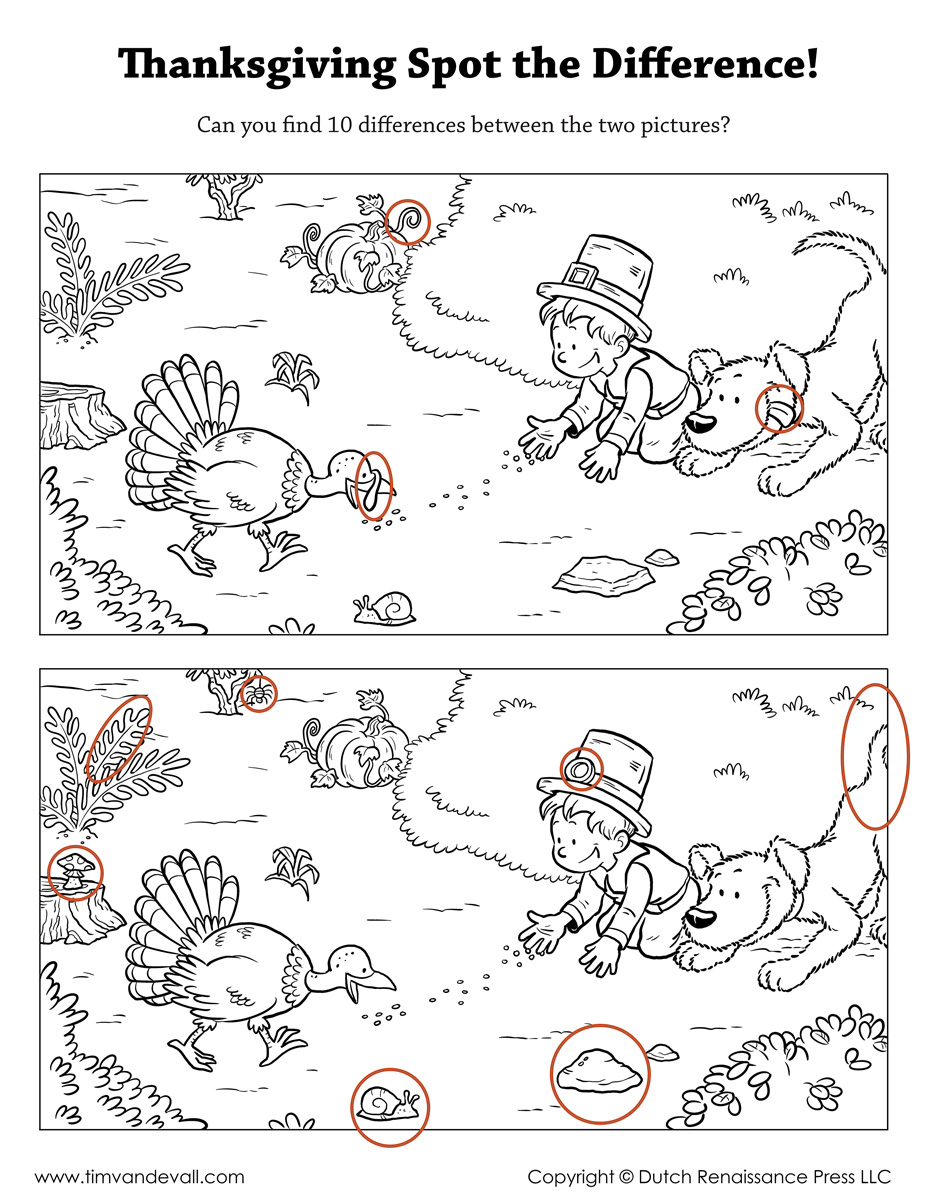 Spot The Difference Printable - Free Printable Spot The Difference For Kids