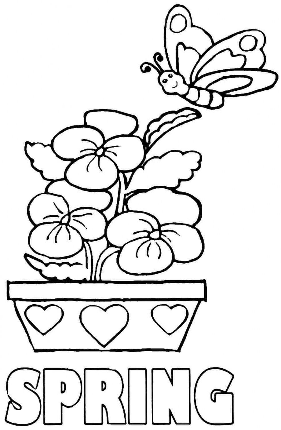 Spring Coloring Sheets Preschool Printable Spring Coloring Pictures - Free Printable Spring Pictures To Color