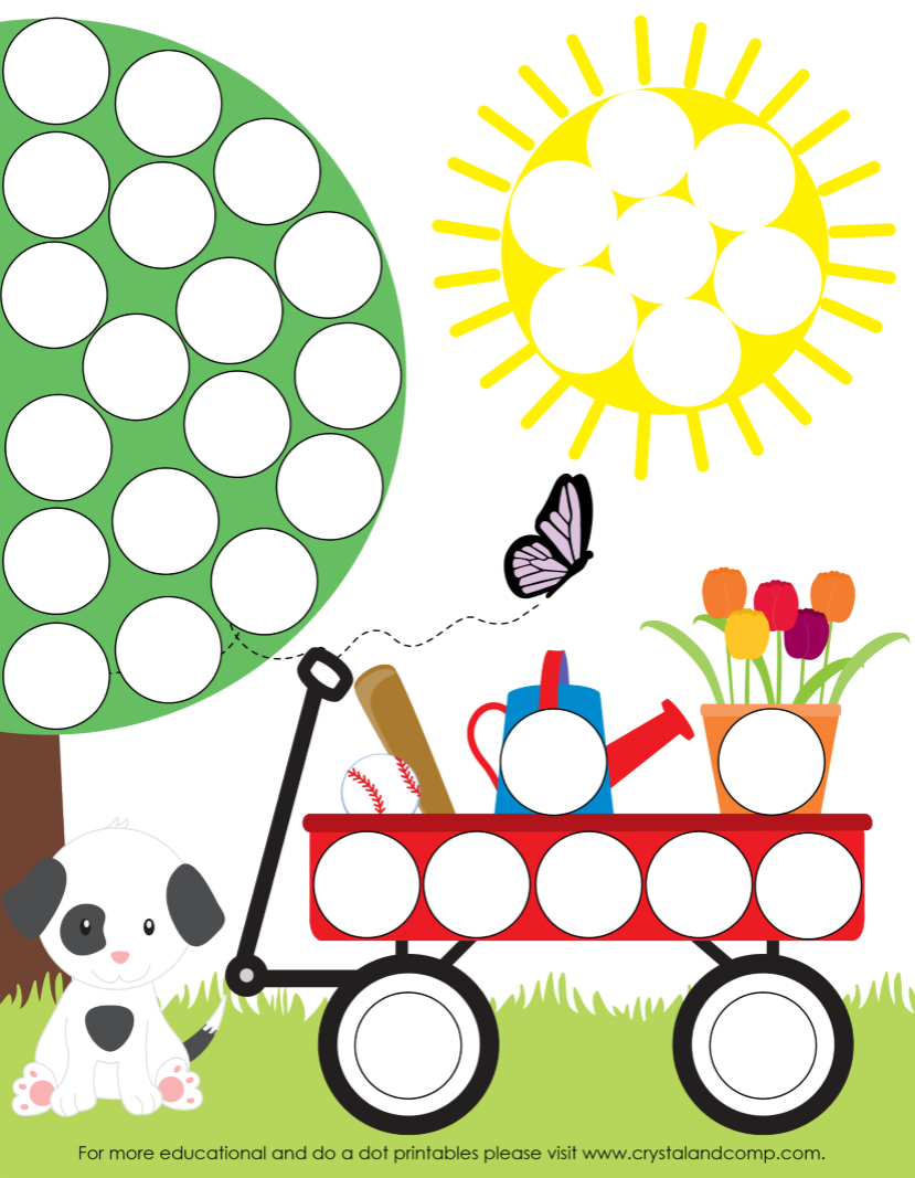 Spring Do A Dot Printables For Preschoolers | Let's Learn-Dot Pages - Do A Dot Art Pages Free Printable
