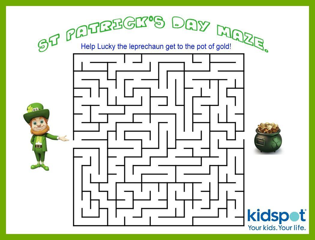 St Patrick's Day - Mazes - Free Printable | Kidspot: St Patrick's - Free Printable St Patrick's Day Mazes