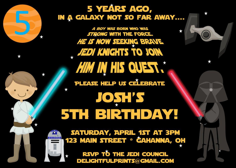 Star Wars Birthday Party Invitations | Free Printable Birthday - Free Printable Star Wars Baby Shower Invites