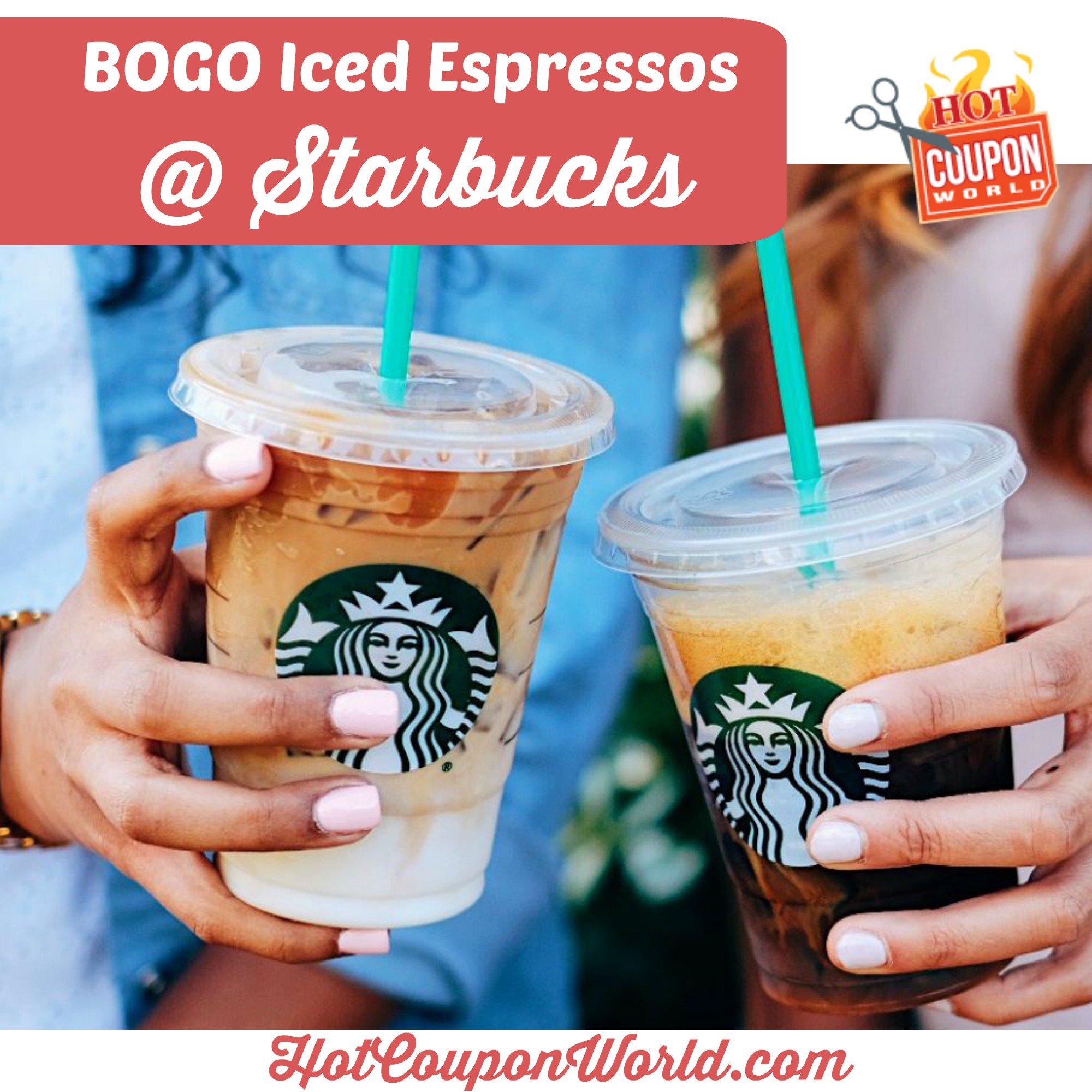 Starbucks Grande Iced Espresso: Bogo Free Event   Hot Coupon World - Free Starbucks Coupon Printable