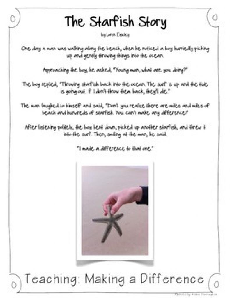 Starfish Story Teaching Resources | Teachers Pay Teachers Inside - Starfish Story Printable Free
