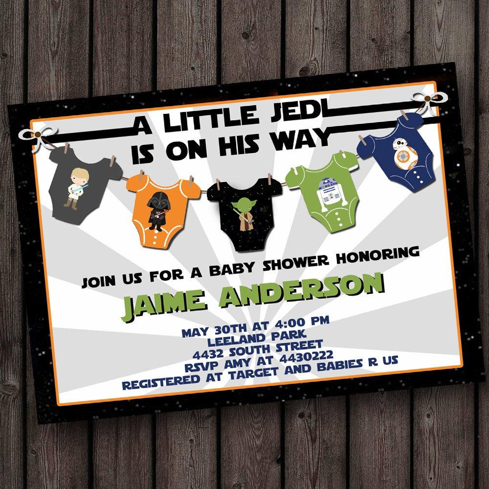 Starwars Baby Shower Invitation Star Wars Baby Shower | Etsy - Free Printable Star Wars Baby Shower Invites