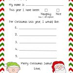 Stationary For Kids To Write Santa Free Stationery Templates Deco   Free Printable Dear Santa Stationary