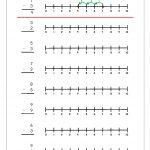 Subtraction Using Number Line | Maths Worksheets For Kindergarten   Free Printable Number Line For Kids
