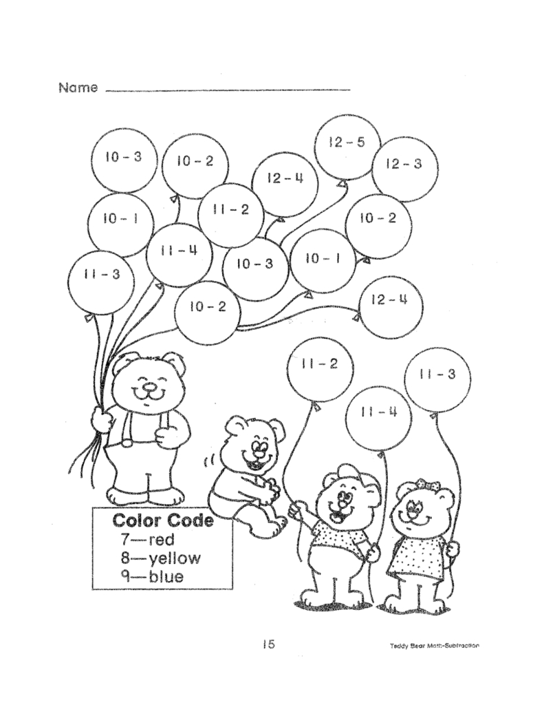Subtraction Worksheets | Educational Coloring Pages | Pinterest - Free Printable Math Coloring Worksheets For 2Nd Grade