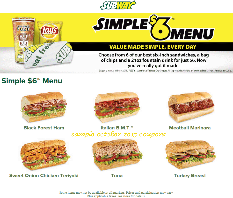 Subway Coupons Printable August 2018 - Las Vegas Show Deals 2018 - Free Printable Subway Coupons 2017