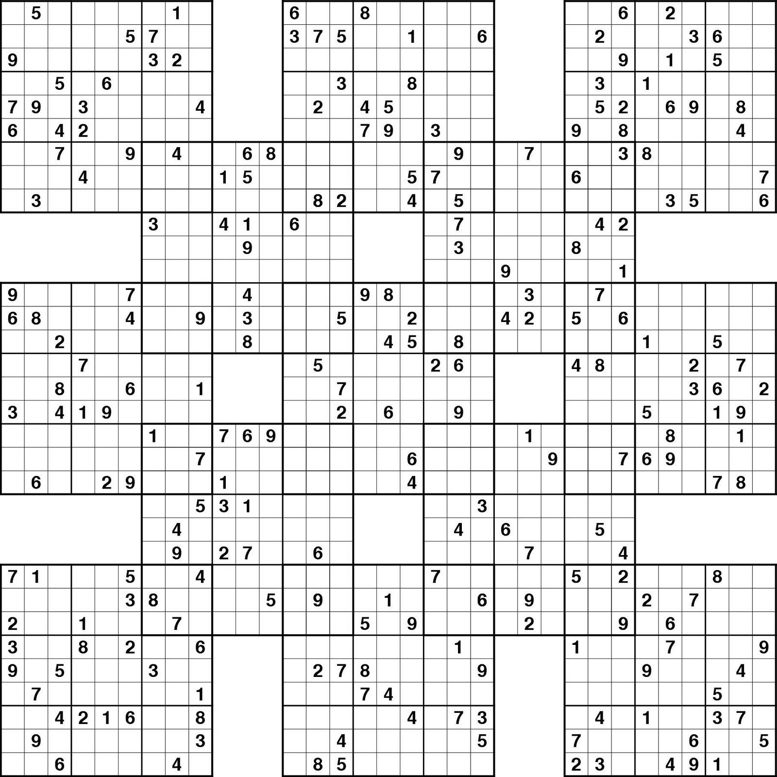 Sudoku High Fives Printable | Kiddo Shelter - Free Printable Samurai Sudoku