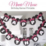 Sugar Fresh: Lily's Minnie Mouse Party + Free Banner Printable - Free Printable Minnie Mouse Birthday Banner