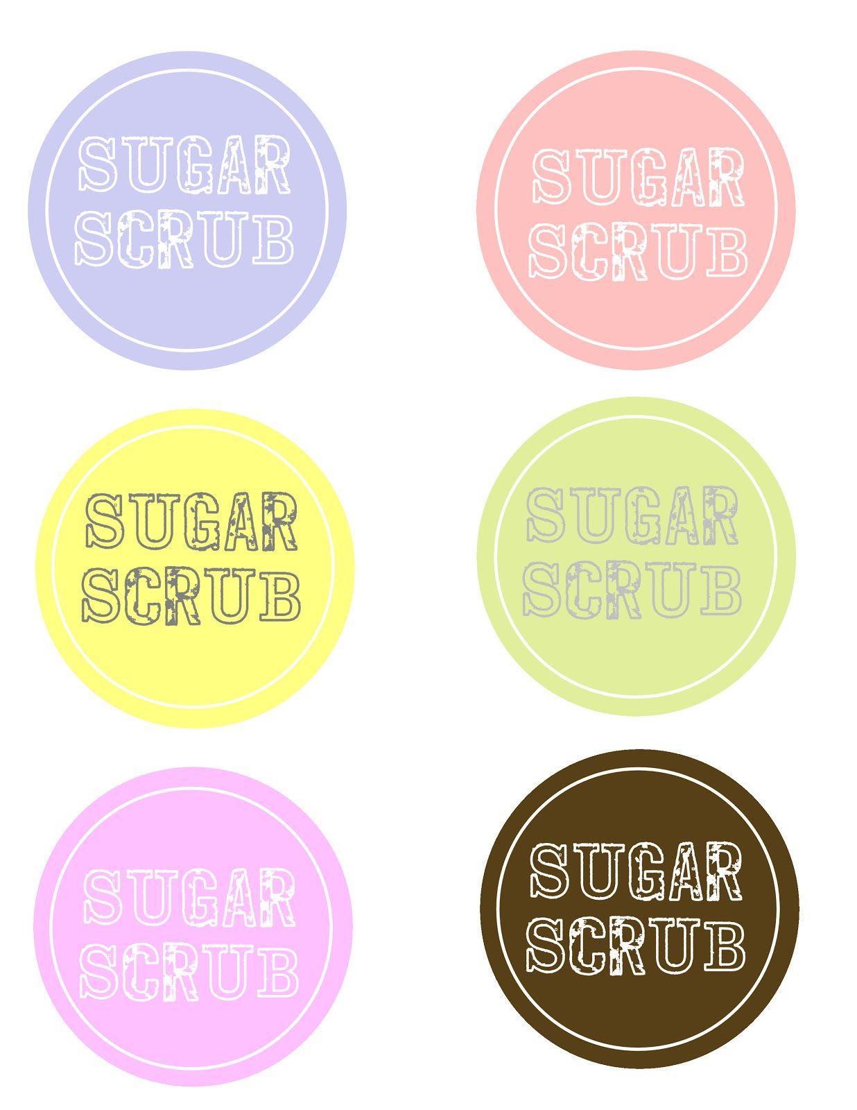 Sugar Scrub And Free Labels   Sugar Scrub Recipe   Sugar Scrub - Free Printable Sugar Scrub Labels