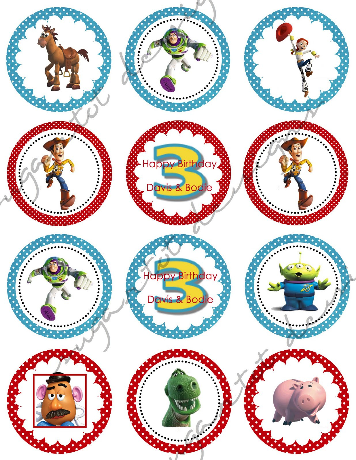Sugartotdesigns: Toy Story 3 Party Invitations & Cupcake Toppers - Free Printable Toy Story 3 Birthday Invitations