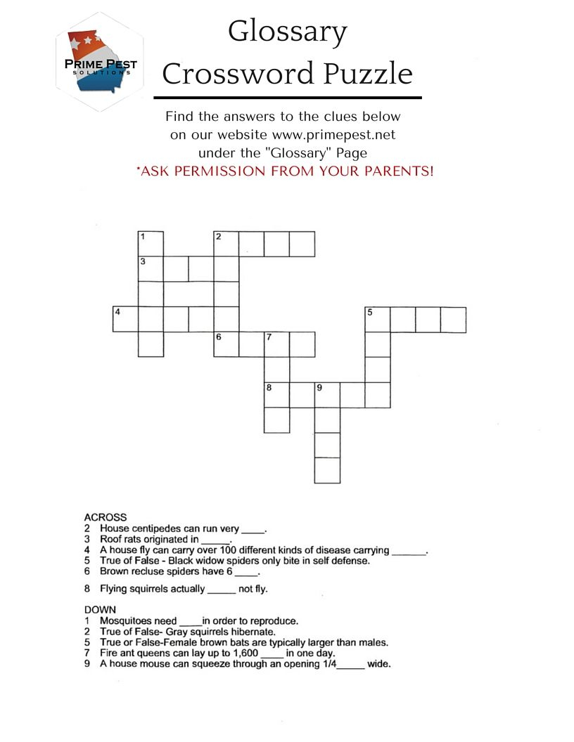 "Summer Crafting With Beth - Week 5 ""crossword Puzzle"" Free Printable - Summer Crossword Puzzle Free Printable"