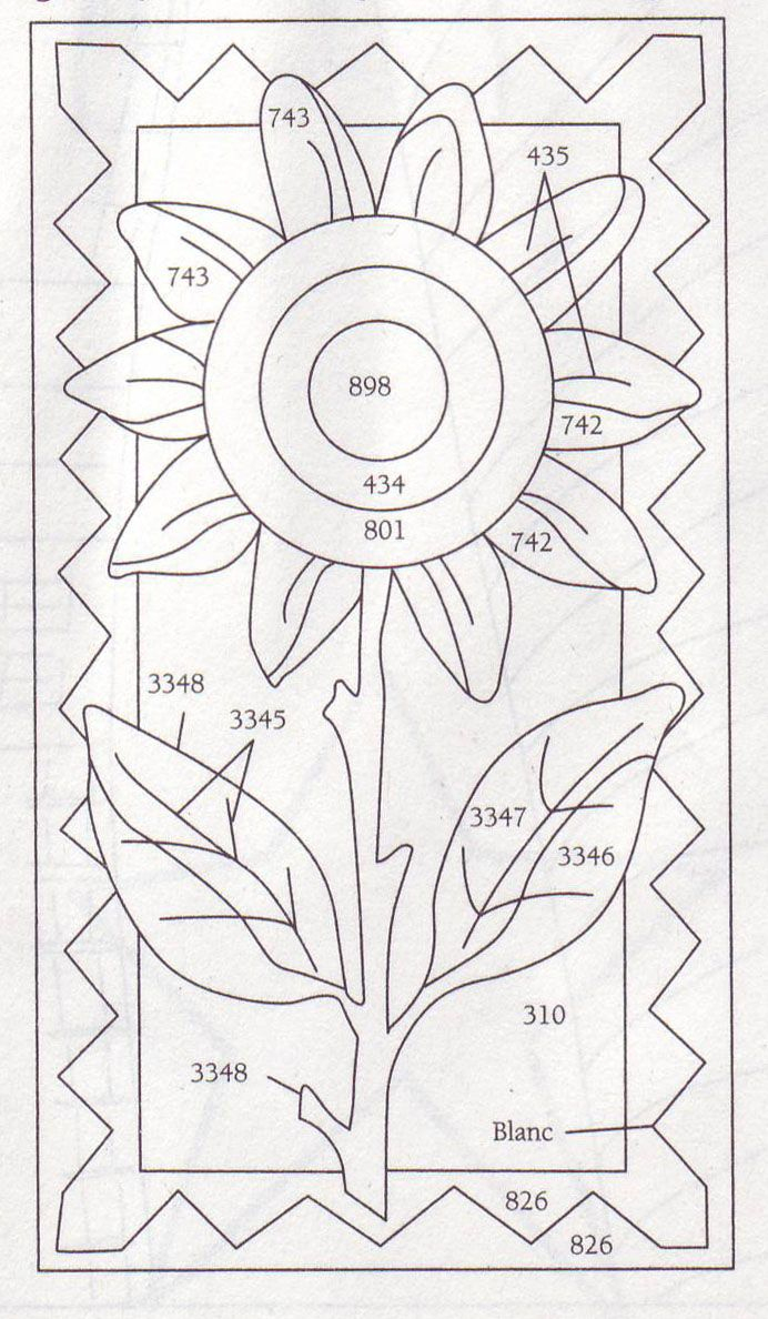 Summer Sunflower Punchneedle | Crafting | Punch Needle Patterns - Free Printable Punch Needle Patterns