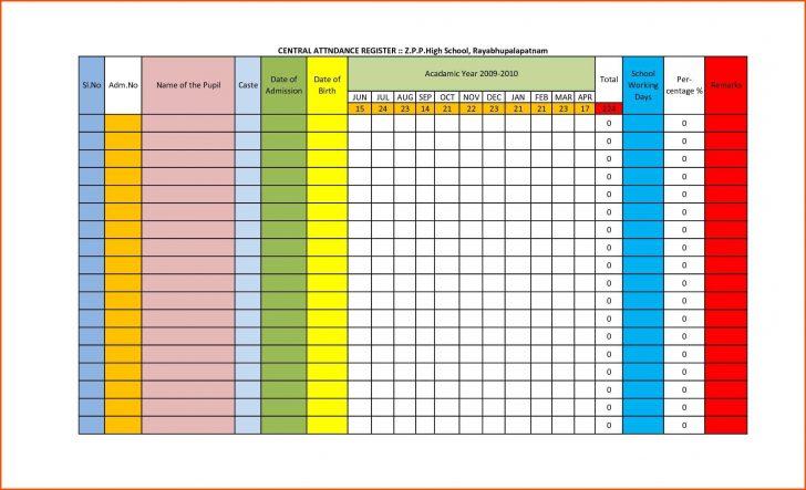 Sunday School Attendance Chart Free Printable