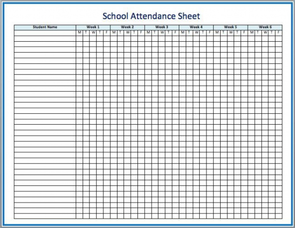 Sunday School Attendance Forms Printable Free Printable Attendance - Free Printable Sunday School Attendance Sheet