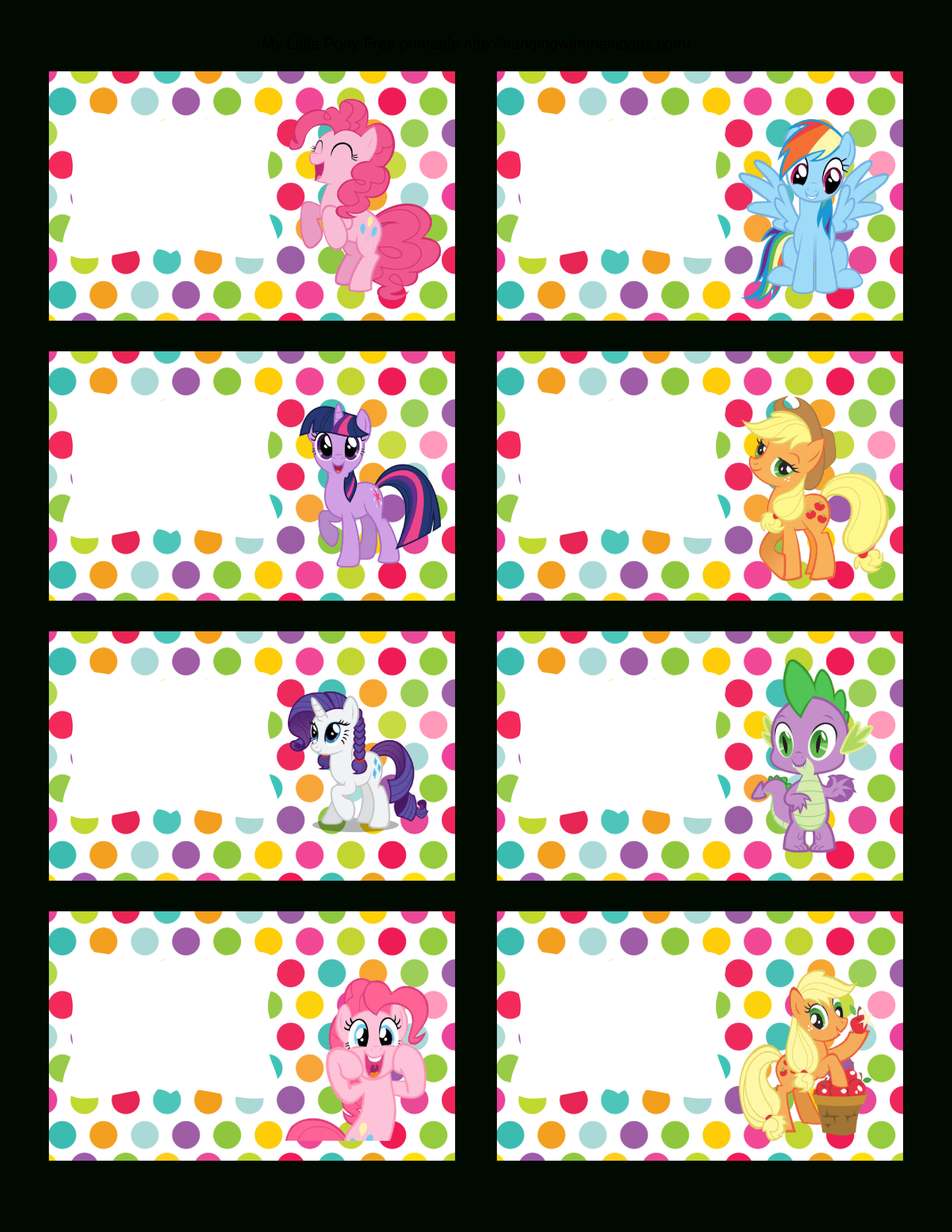 Super Cute Collection Of Free My Little Pony Party Printables. This - Free Printable My Little Pony Cupcake Toppers