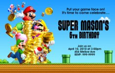 Super Mario Bros Birthday | Free Printable Birthday Invitation – Free Printable Super Mario Bros Invitations