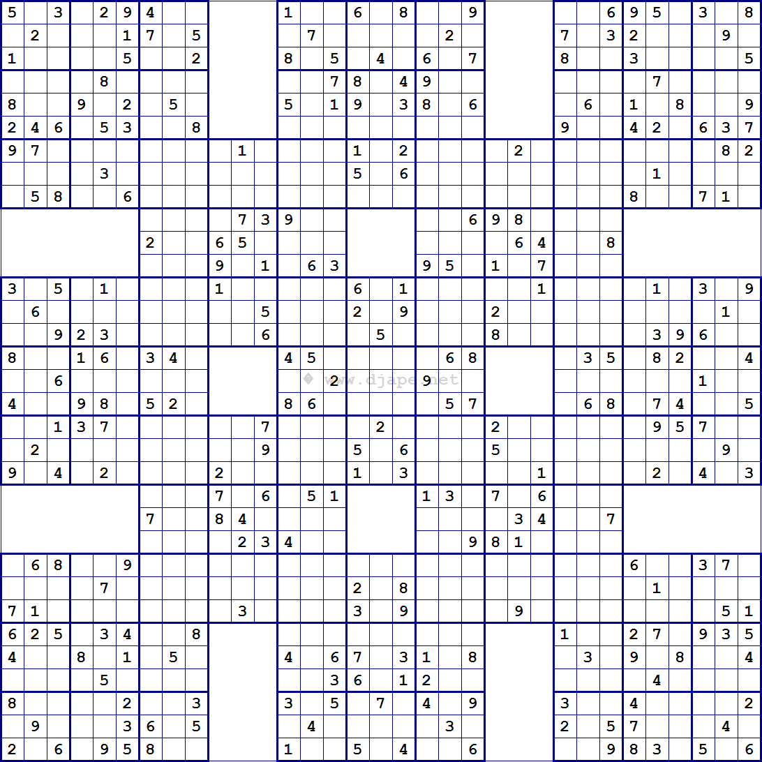 Super Samurai Sudoku 13 Grids | Sudoku | Pinterest | Sudoku Puzzles - Free Printable Sudoku 6 Per Page