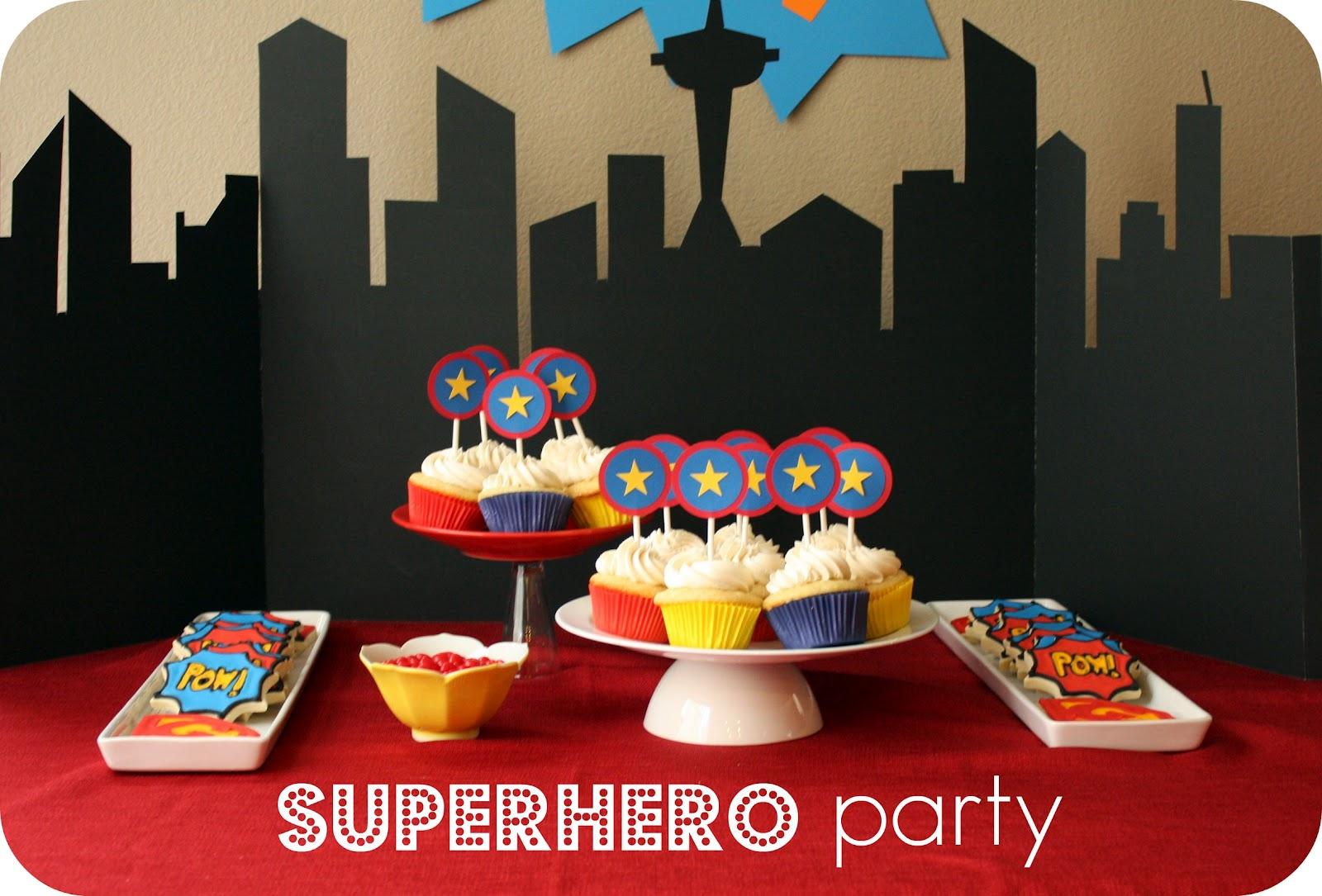 Superhero Party Treats And A Free Printable - Free Printable Superhero Skyline