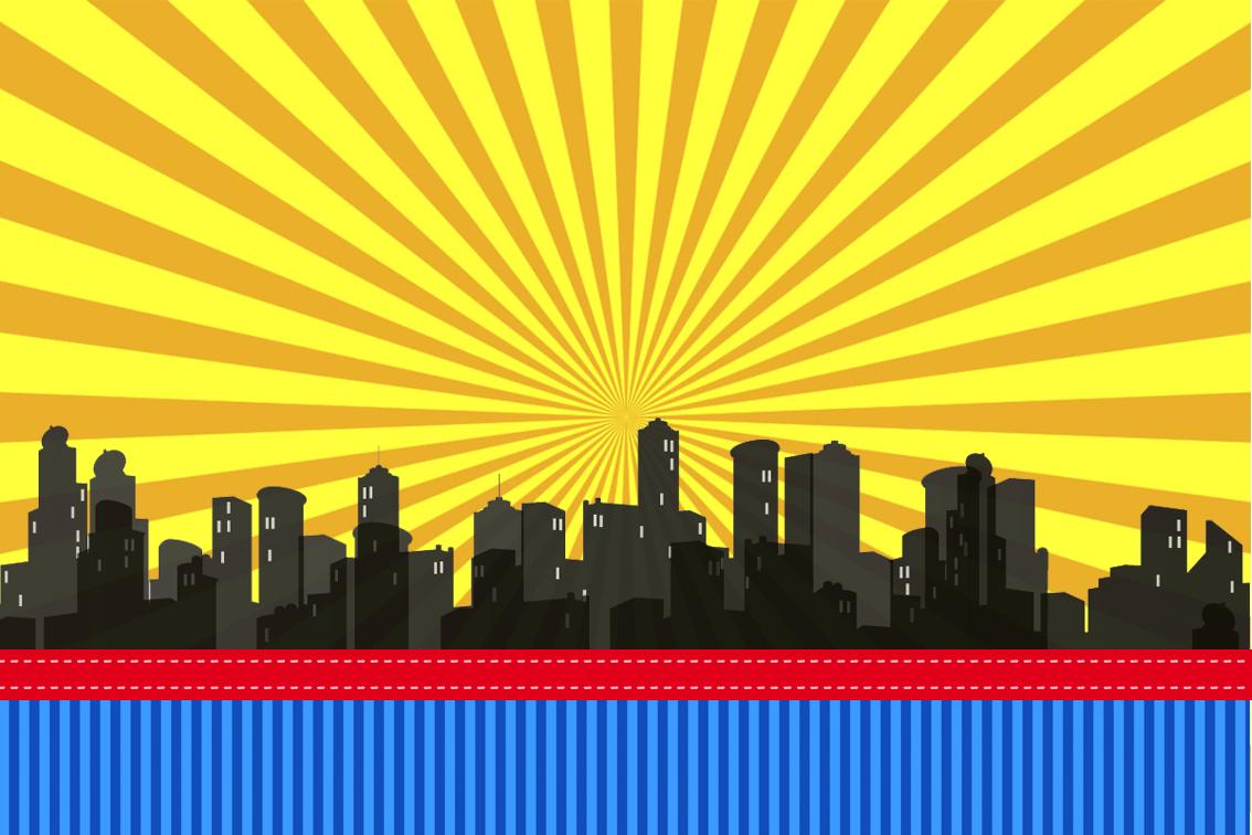 Superheroes: Free Printable Invitations, Boxes And Free Party - Free Printable Superhero Skyline