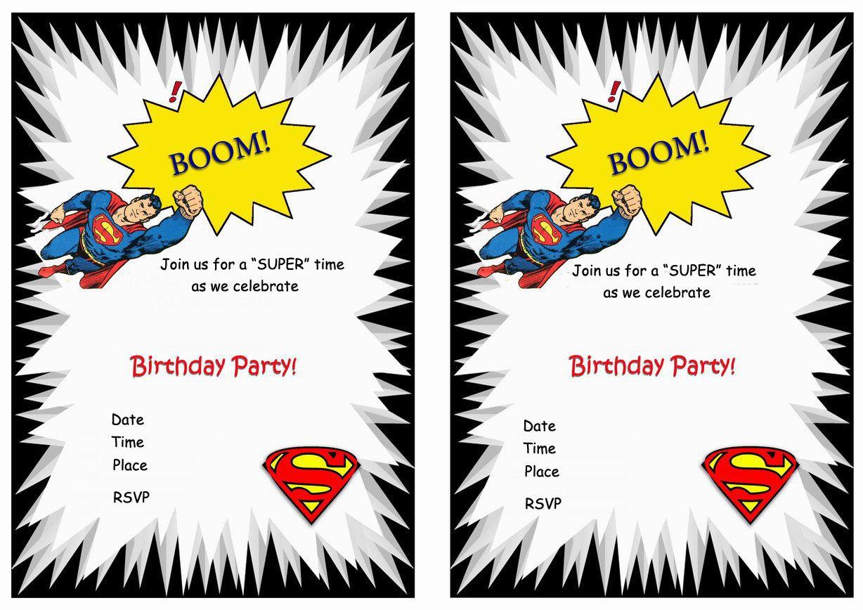 Superman Free Printable Birthday Party Invitations | Love It - Free Printable Superman Invitations