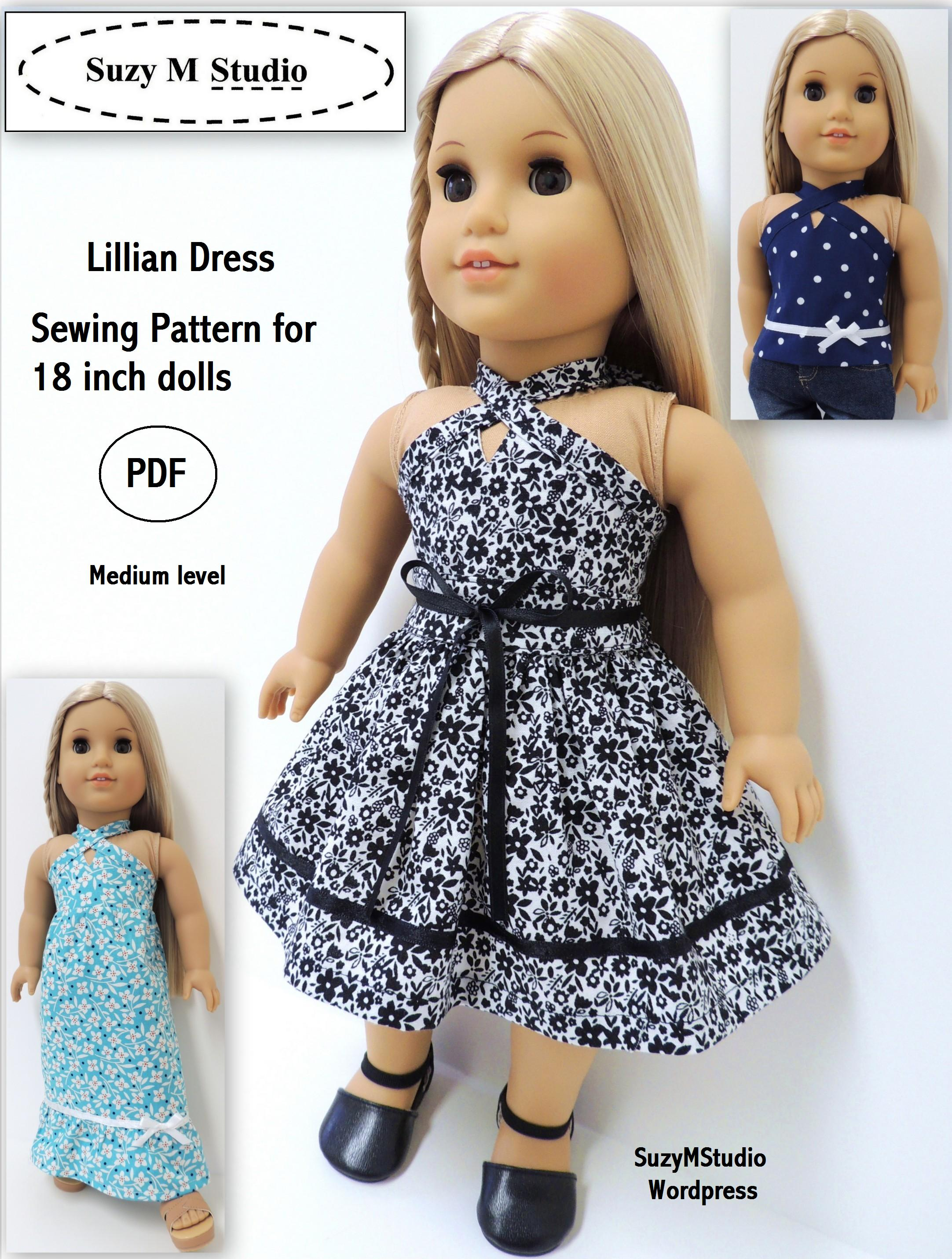 Suzymstudio | Doll Clothes And Sewing Patterns - Free Printable Crochet Doll Clothes Patterns For 18 Inch Dolls