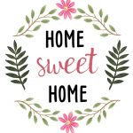 Sweetdailiness: Free Home Sweet Home Printable. Download It At Www   Home Sweet Home Free Printable