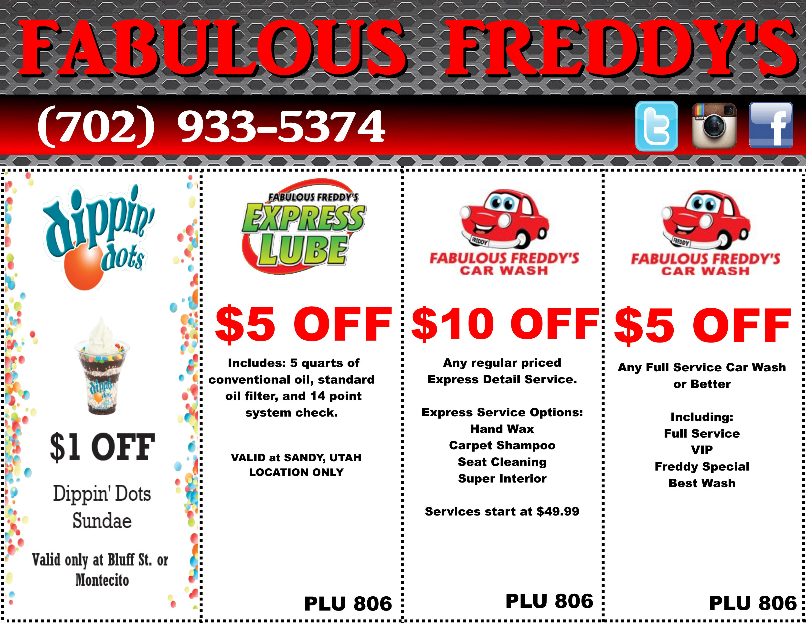 Take Advantage Of Our Fabulous Coupons | Fabulous Freddy's | (702 - Free Printable Las Vegas Coupons 2014