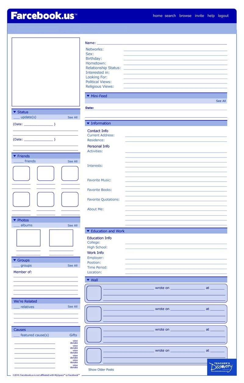 Tanya Mcatee (Tanyamcatee) On Pinterest - Free Printable Facebook Template