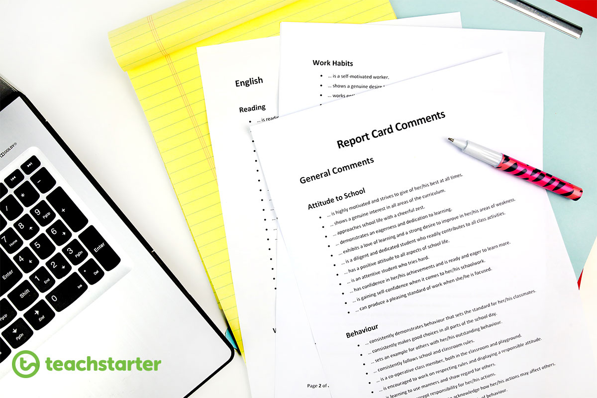 Teach Starter's Most Popular Teacher Resources In May 2018 - Free Printable Report Card Comments
