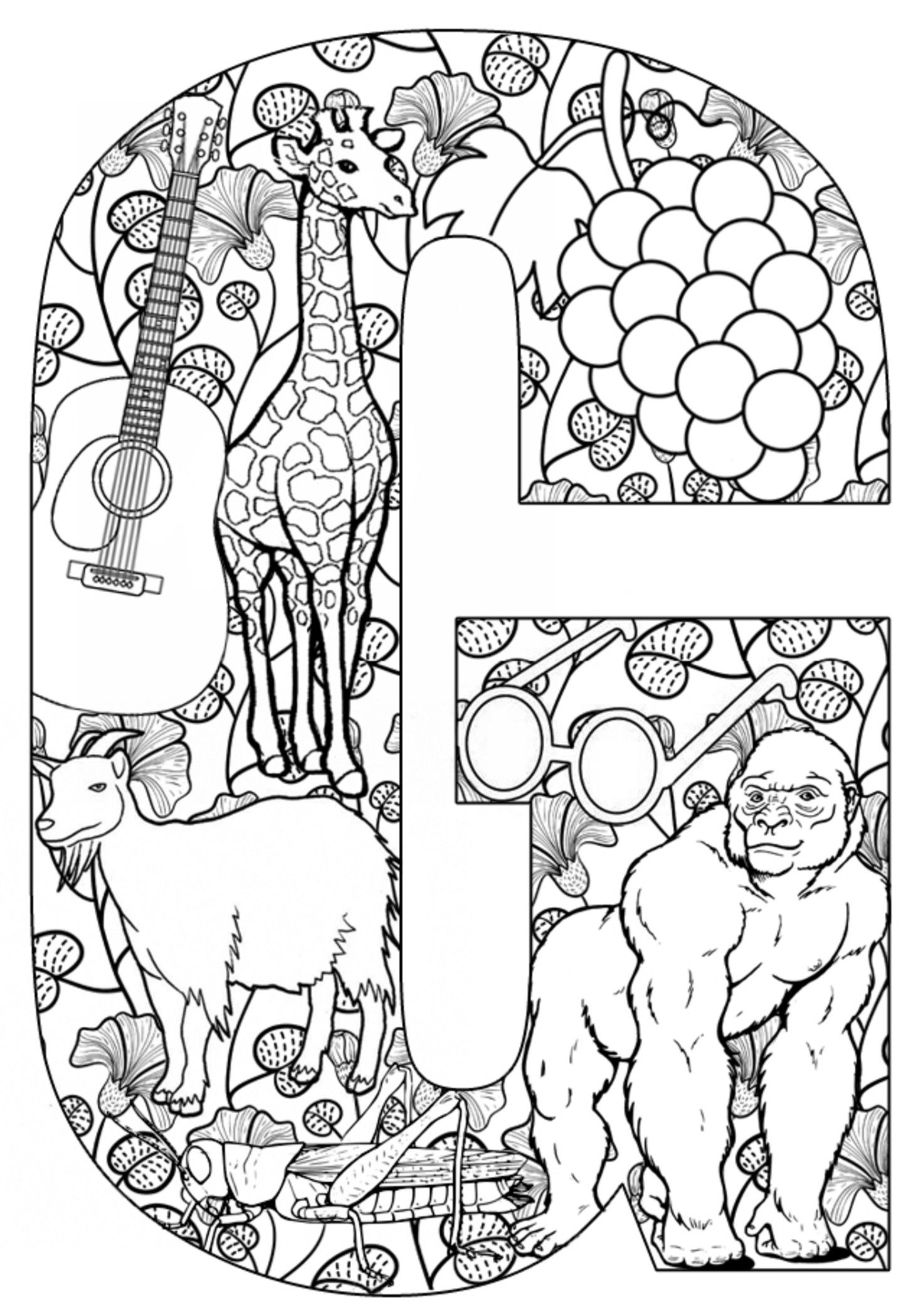Teach Your Kids Their Abcs The Easy Way With Free Printables | Adult - Free Printable Letter G Coloring Pages