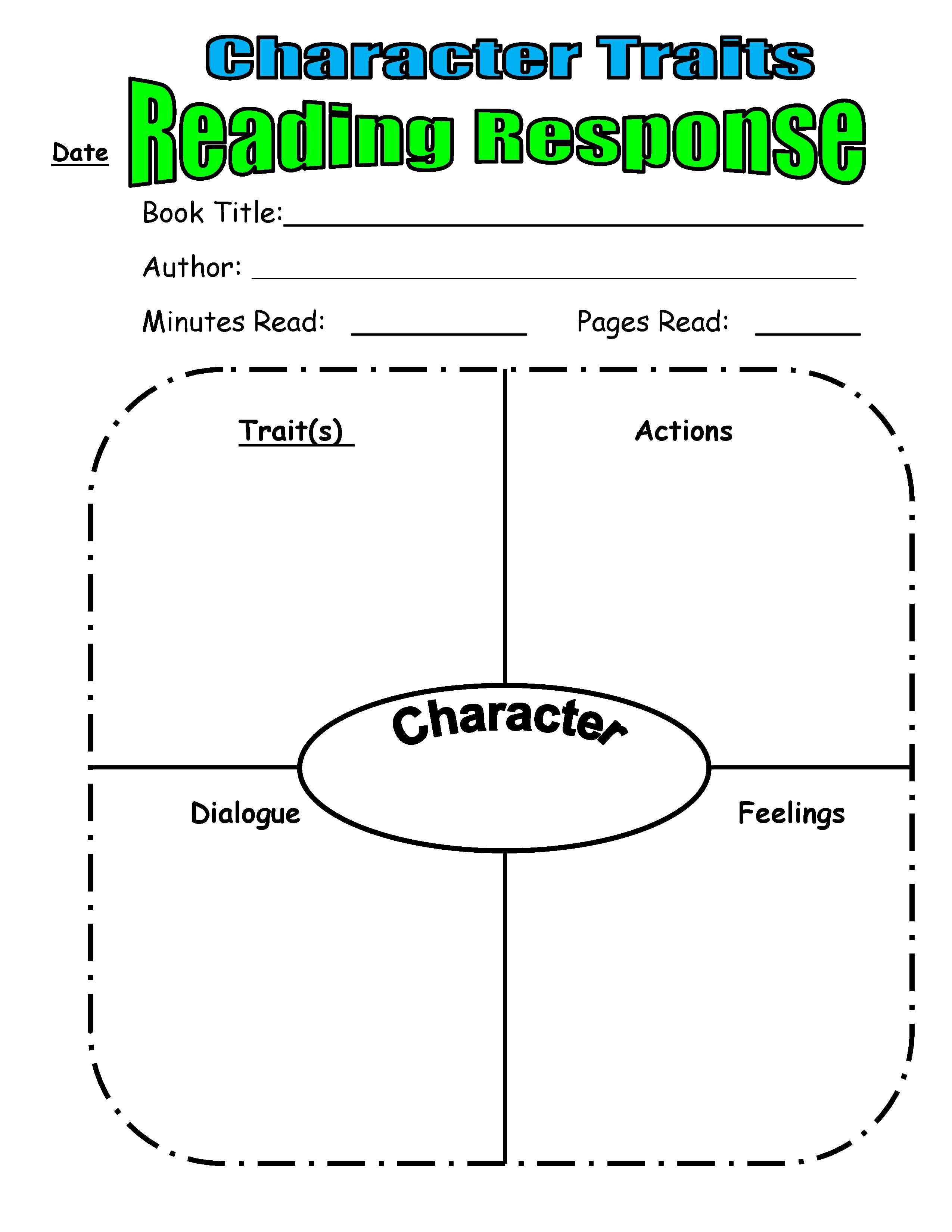 Teaching Character Traits In Reader's Workshop   Scholastic - Free Printable Character Map