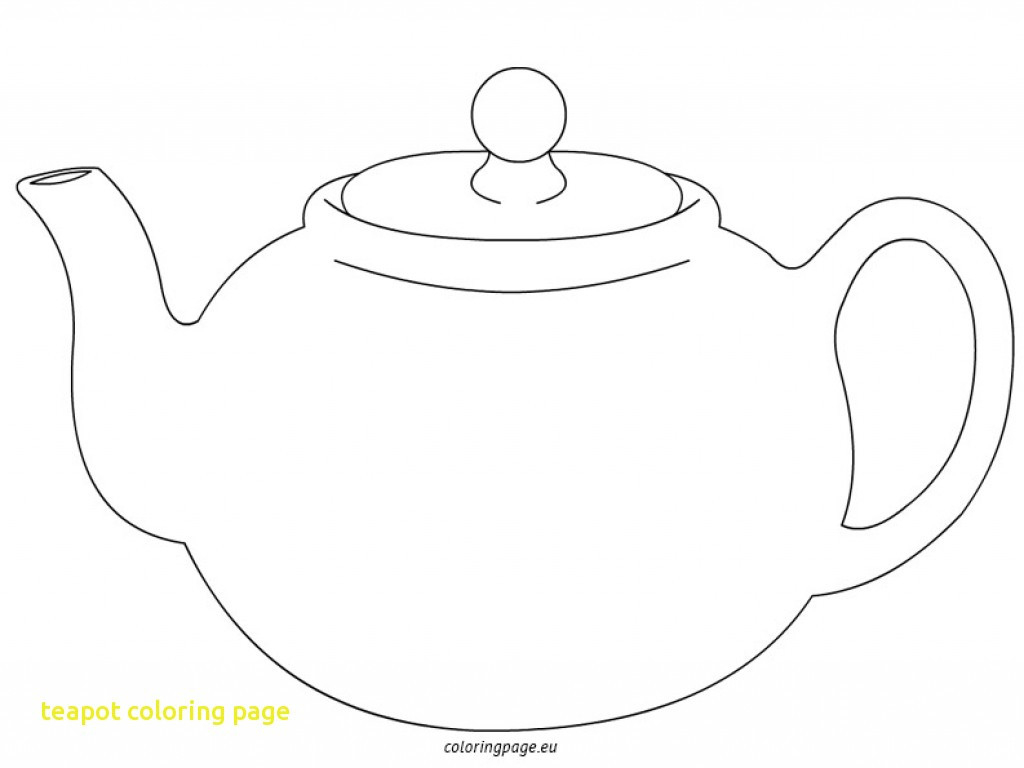 Teapot Coloring Page With 18757 Free Printable Throughout | Fiscalreform - Free Teapot Printable
