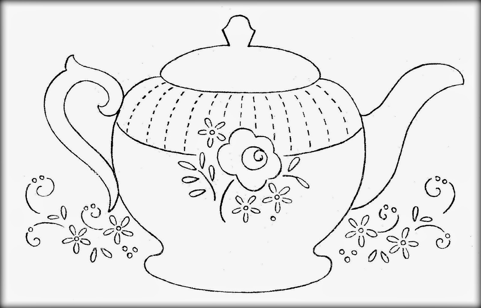 Teapot Printable Coloring Pages And Cup Of Tea With Cookies Within - Free Teapot Printable
