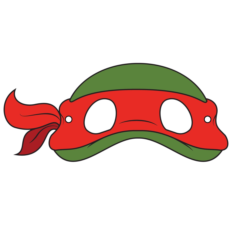 Teenage Mutant Ninja Turtles Mask Template   Free Printable - Teenage Mutant Ninja Turtles Free Printable Mask