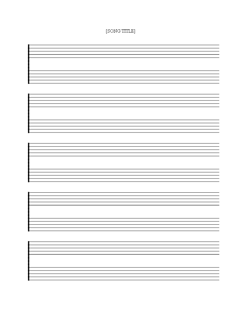 Télécharger Free Printable Music Staff Sheet 5 Double Lines - Free Printable Music Staff