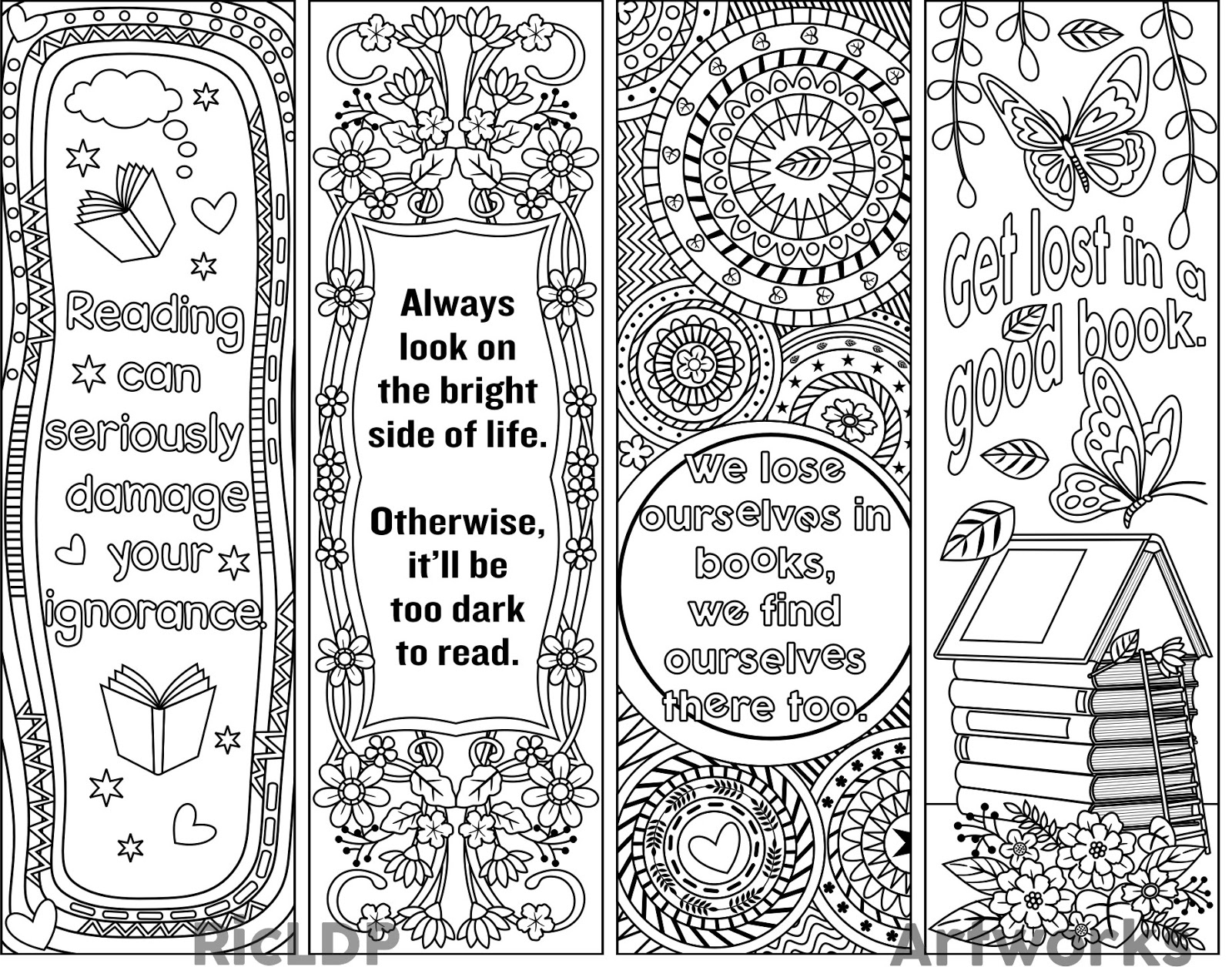 Template: Bookmark Template - Free Printable Dragon Bookmarks
