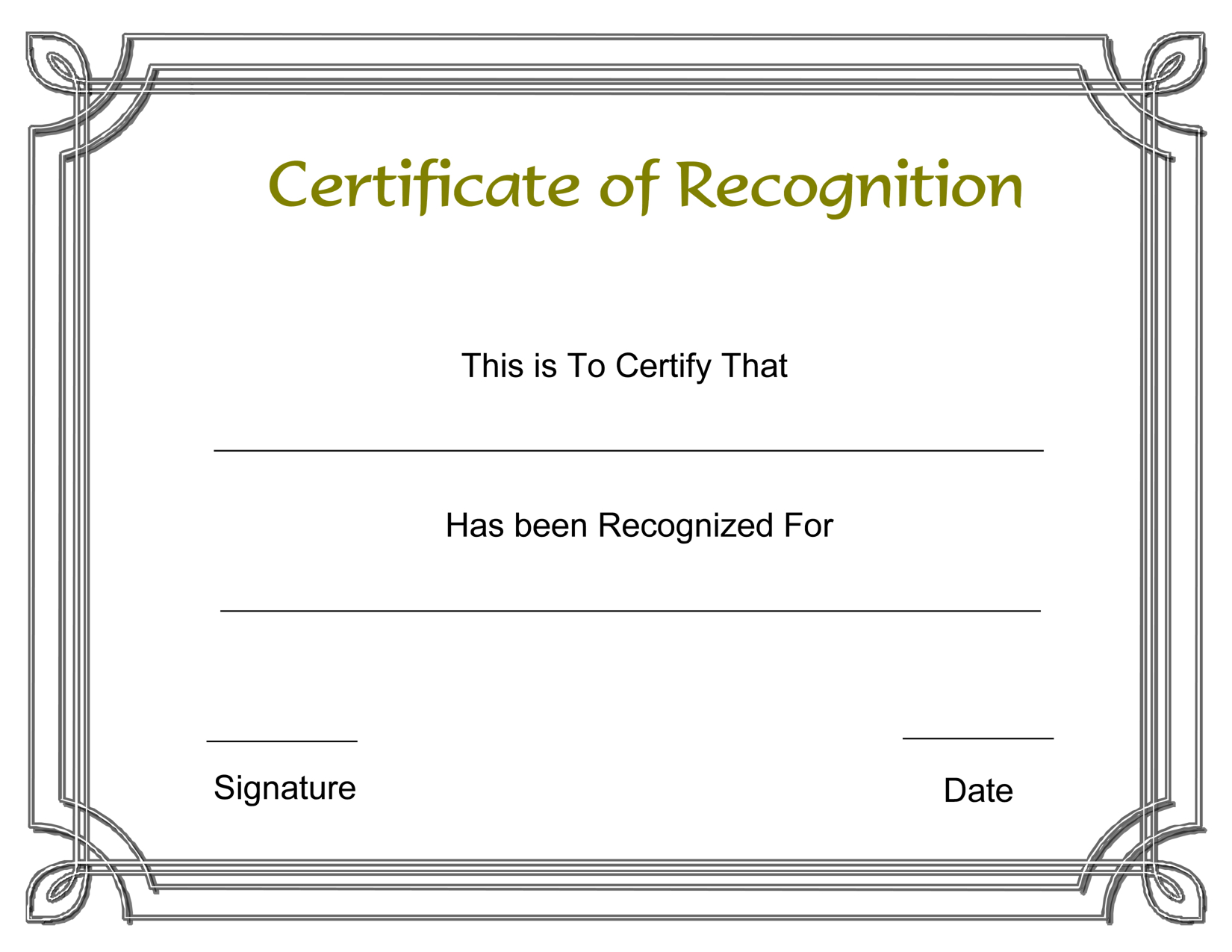 Template Free Award Certificate Templates And Employee Recognition - Free Printable Certificates And Awards