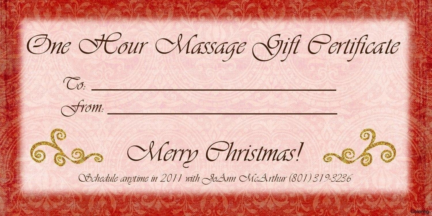 Template: Massage Gift Voucher Template Within Couples Massage Gift - Free Printable Gift Certificate Templates For Massage