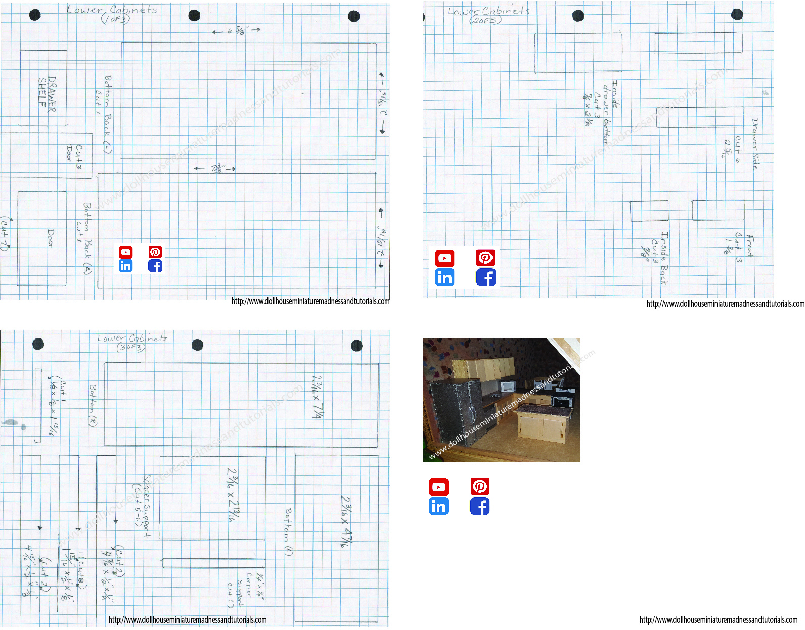 Templates - Dollhouse Miniature Madness And Tutorials - Free Printable Dollhouse Furniture Patterns