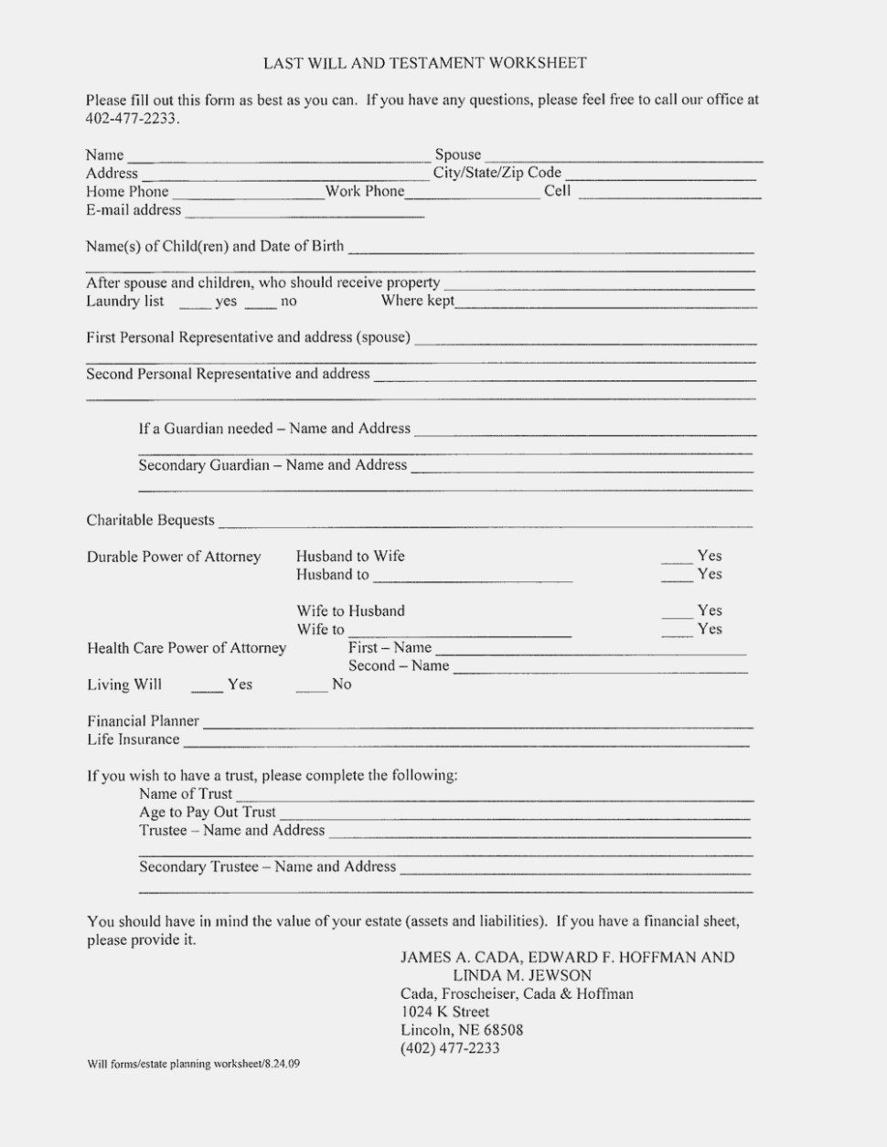 Ten Easy Ways To Facilitate Free Printable   Form Information - Free Printable Will And Trust Forms